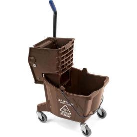 Mop Bucket/Wringer Combo 26 qt - Brown