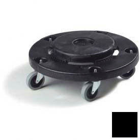 Flo-Pac® Round Container Dolly - Black - Pkg Qty 2