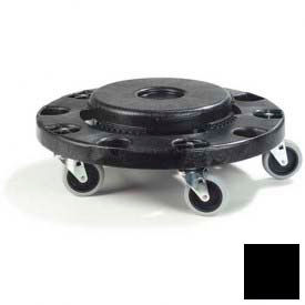 Bronco™ Standard Round Container Dolly - Black 3691103 - Pkg Qty 2