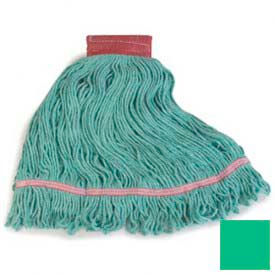 Flo-Pac® Large Red Band Mop With Looped-End - Green - Pkg Qty 12