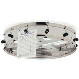 "Carlisle 3812CH - Order Wheel, 12 Clip Ceiling Hung Order Wheel, 14"", Stainless Steel"