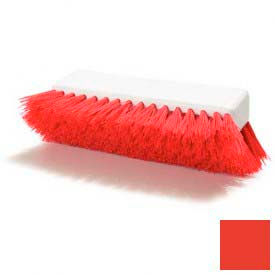 "Sparta® Hi-Lo™ Polypropylene Scrub Brush 10"" - Red - Pkg Qty 12"