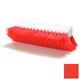 "Sparta® Hi-Lo™ Polypropylene Scrub Brush 10"" - Red - Pkg Qty 12"