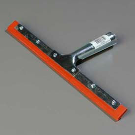 """Professional Double-Blade Rubber Squeegee W/ Zinc Plated Steel Handle 12"""" - 4102700 - Pkg Qty 12"""