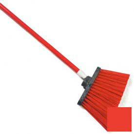 """Sparta® Spectrum® Duo-Sweep® Polyethylene Angle Broom 56"""" Long - Red - Pkg Qty 12"""
