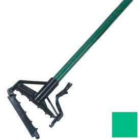 """Sparta Spectrum Quik-Release Fiberglass Mop Handle 60"""" Long / 1"""" D-Green - Pkg Qty 12"""