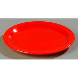 "Carlisle 4350005 - Dallas Ware® Dinner Plate 10-1/4"", Red - Pkg Qty 48"