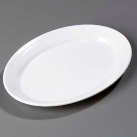 "Carlisle 4356002 - Dallas Ware® Oval Platter 12"" x 8-1/2"", White - Pkg Qty 24"
