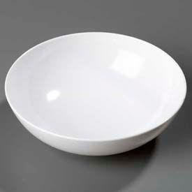 """Carlisle 4381302 - Epicure® Chef Salad/Serving Bowl 40.6 Oz., 7-31/32"""", White - Pkg Qty 12"""