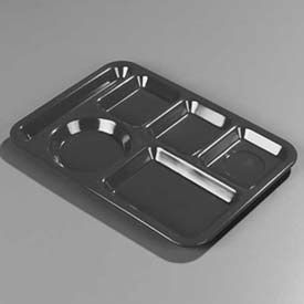 Carlisle 4398059 - Left-Hand Heavy Weight 6-Compartment Tray, Slate Blue - Pkg Qty 12