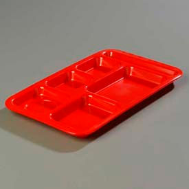 Carlisle 4398205 - Right-Hand Space Saver Compartment Tray, Red - Pkg Qty 12