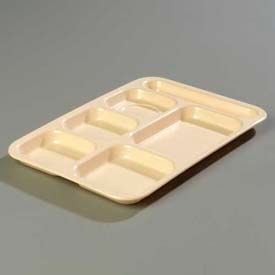 Carlisle 4398825 - Right-Hand Heavy Weight Compartment Tray, Tan - Pkg Qty 12