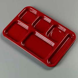 Carlisle 4398885 - Right-Hand Heavy Weight Compartment Tray, Dark Cranberry - Pkg Qty 12