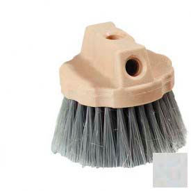 Round Window Brush With Flagged Polypropylene Bristles 4-1/2 - Grey - Pkg Qty 12