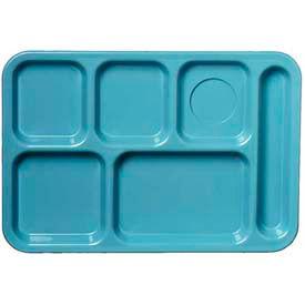 Carlisle 61459 - Left-Hand 6-Compartment Tray, Slate Blue - Pkg Qty 24
