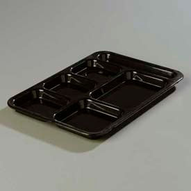 Carlisle 614R03 - Right-Hand Compartment Tray, Black - Pkg Qty 24