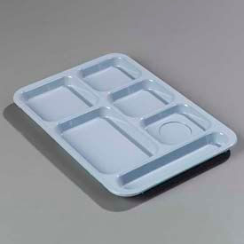 Carlisle 614R59 - Right-Hand Compartment Tray, Slate Blue - Pkg Qty 24