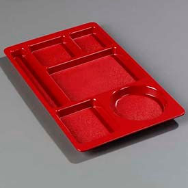 Carlisle 61505 - Omni-Directional Space Saver Tray, Red - Pkg Qty 24