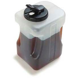 Carlisle 640000 - 1 Gallon Container W/ Black Lid, Clear - Pkg Qty 2