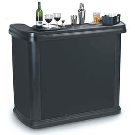 "Carlisle 755003 Maximizer Portable Bar 56"", 26-1/2"", 48-1/2"", Black by"