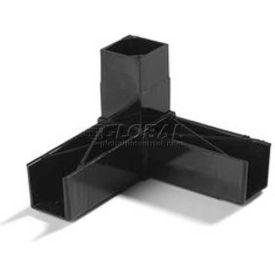 "Carlisle 900203 Sneeze Guard Assembly Blocks 1"" 90° 3 Prong, Black by"