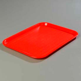 "Carlisle CT141805 - Cafe® Standard Tray 14"" x 18"", Red - Pkg Qty 12"