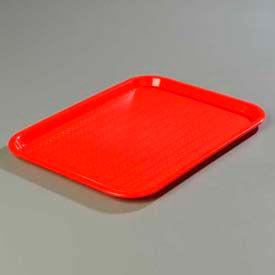 "Carlisle CT141805 - Cafe® Standard Tray 14"" x 18"", Red - Pkg Qty 12"