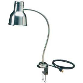 "Carlisle HL8185C00 - FlexiGlow™ Single Arm Heat Lamp, Includes Clamp 24"", Aluminum"