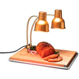 "Carlisle HL8285GB21 FlexiGlow Dual Arm Heat Lamp W/ Board & Pan 24"", Gold by"