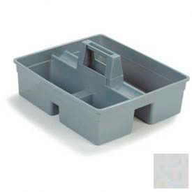 Tool Caddy For Janitorial - Grey - Pkg Qty 6