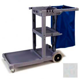 Carlisle® Long Platform Janitorial Cart - Gray JC1945L23
