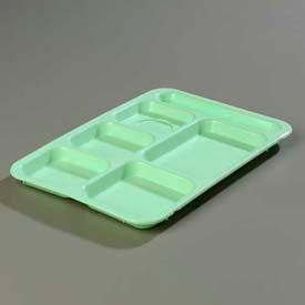 Carlisle P614R09 - Right-Hand 6-Compartment Tray, Green - Pkg Qty 24