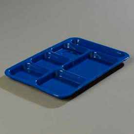 Carlisle P614R14 - Right-Hand 6-Compartment Tray, Blue - Pkg Qty 24