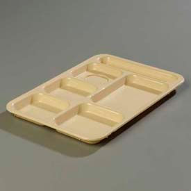 Carlisle P614R25 - Right-Hand 6-Compartment Tray, Tan - Pkg Qty 24