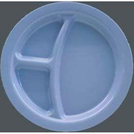 "Carlisle PCD22059 - Narrow Rim 3-Compartment Plate 9"" x 1"", Slate Blue - Pkg Qty 48"