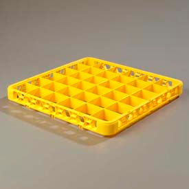 Carlisle RE36C04 - Opticlean™ 36-Compartment Divided Glass Rack Extender, Yellow - Pkg Qty 6