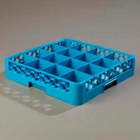 Carlisle RG1614 - Opticlean™ 16-Compartment Glass Rack, Blue - Pkg Qty 6