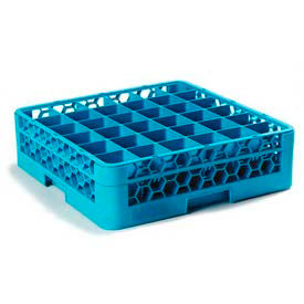 Carlisle RG36-114 - Opticlean™ 36-Compartment Glass Rack W/ 1 Extender, Carlisle Blue - Pkg Qty 4
