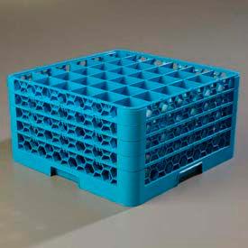 Carlisle RG36-414 - Opticlean™ 36-Compartment Glass Rack W/ 4 Extenders, Carlisle Blue - Pkg Qty 2