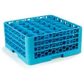 Carlisle RW30-214 - Opticlean Newave 30-Compartment Glass Rack W/ 3 Extenders, Carlisle Blue - Pkg Qty 2