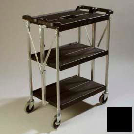 Carlisle® SBC152103 Fold 'N Go® Cart 15x21 - Black