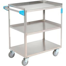 Carlisle® UC3031827 Stainless Steel Utility Transportation Cart 300 Lb. Cap. 3 Shelf 18x27