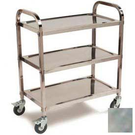 Carlisle® UC4031733 Stainless Steel Knockdown Utility Cart 400 Lb Cap 17x33