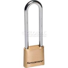 "Ccl Security Sesamee® Brass Padlock, 10,000 Combo, 4"" Steel Shackle - Pkg Qty 5"