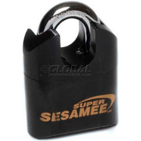 "Super Sesamee From Ccl Security Shrouded Shackle Blk Steel Combo Padlock, 1"" Steel Shackle - Pkg Qty 5"