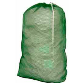 "Cortech USA, 1830G, Laundry Bag, 18"" x 30"", Green, Heavy Duty Mesh Drawcord, Lock Closure, 72/pack"