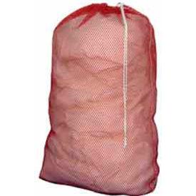 "Cortech USA, 2436R, Laundry Bag, Heavy Duty Mesh, w/ Drawcord Lock Closure, Red, 24"" x 36"", 72/pack"