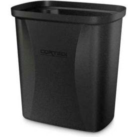 Cortech USA, 710BK, Trash Can, Black, 7-10 Qt., Fr, 6/Pack