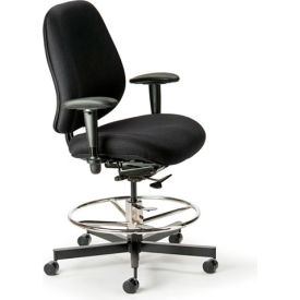 Cortech USA 24/7 Intensive Use Stool with 1A Arms - Sapphire  Interweave Fabric