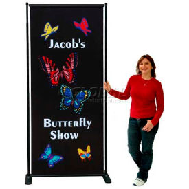 SpeedPress® Butterfly Adjustable Poster Stand 4' Wide